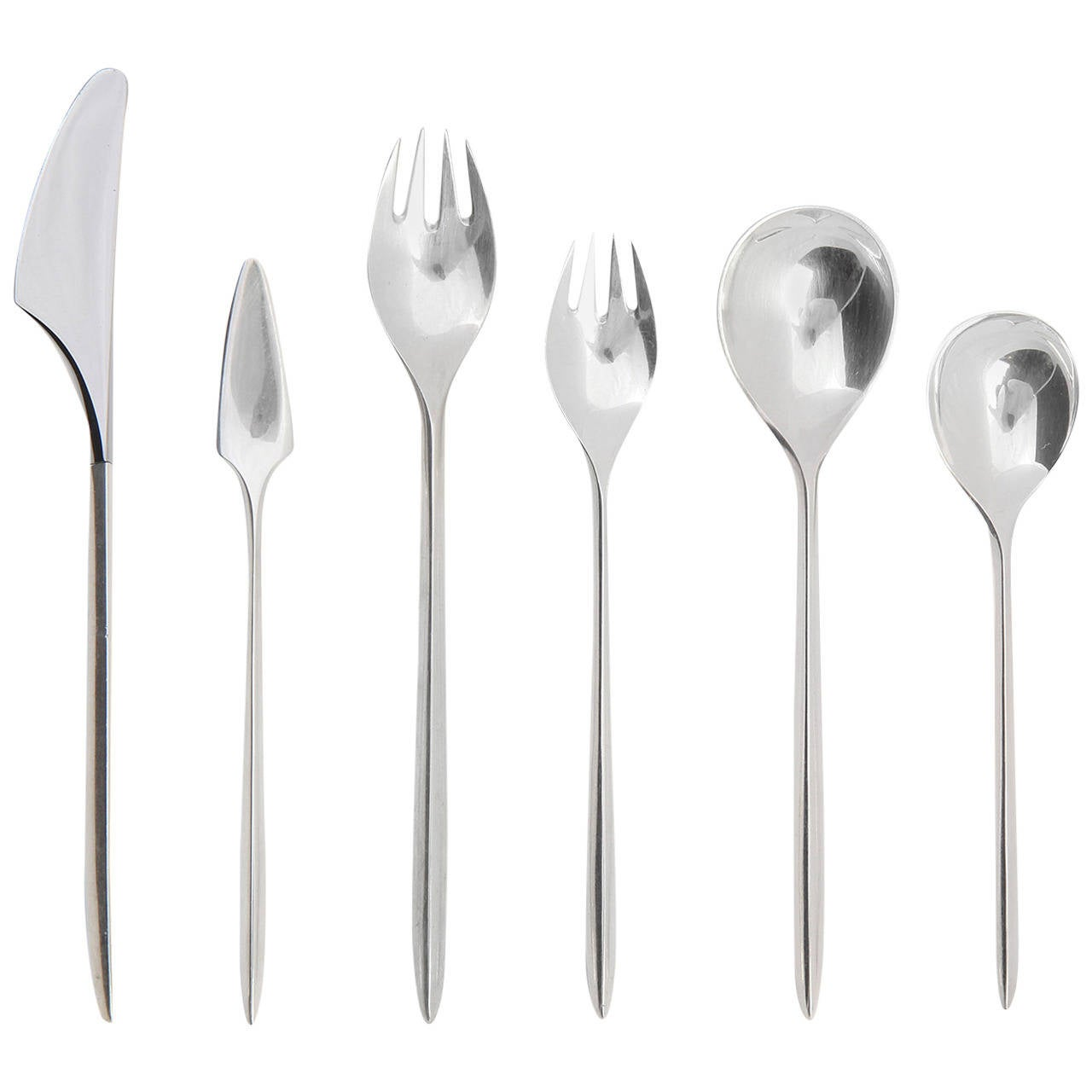 Trinita Sterling Flatware by Cohr For Sale