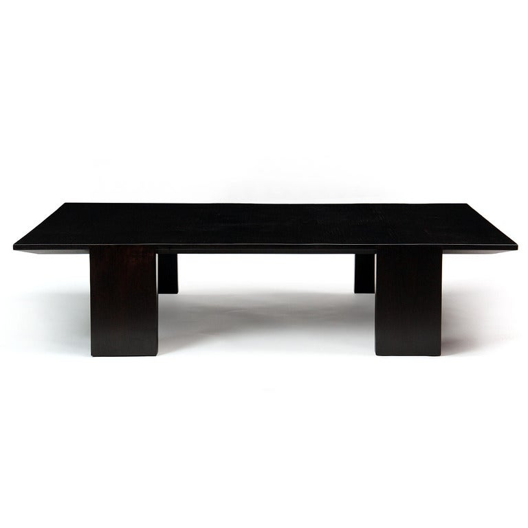 Large bamboo low table for sale at 1stdibs for Large low coffee table