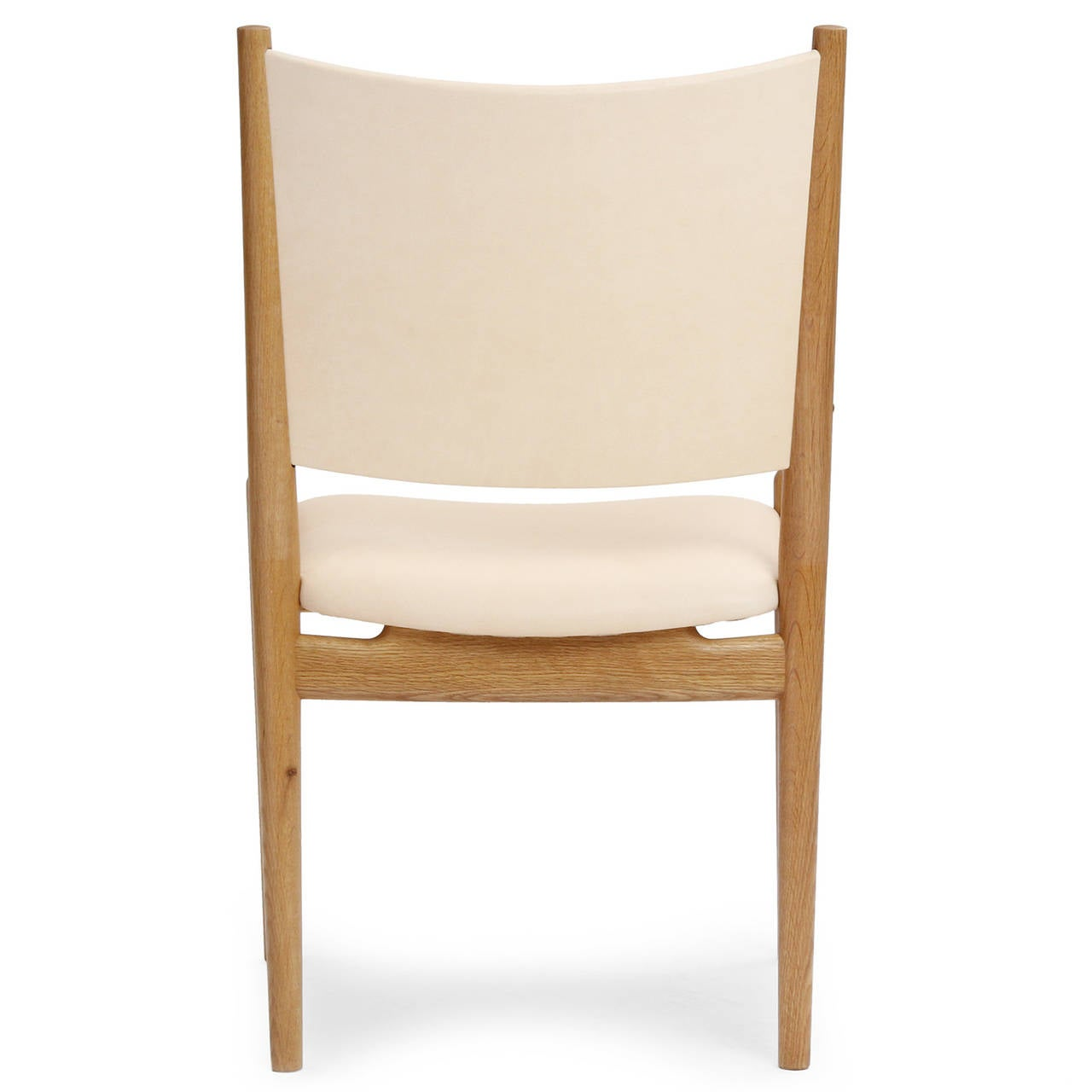 Mid-20th Century White Oak and Leather Dining Chairs by Hans Wegner For Sale