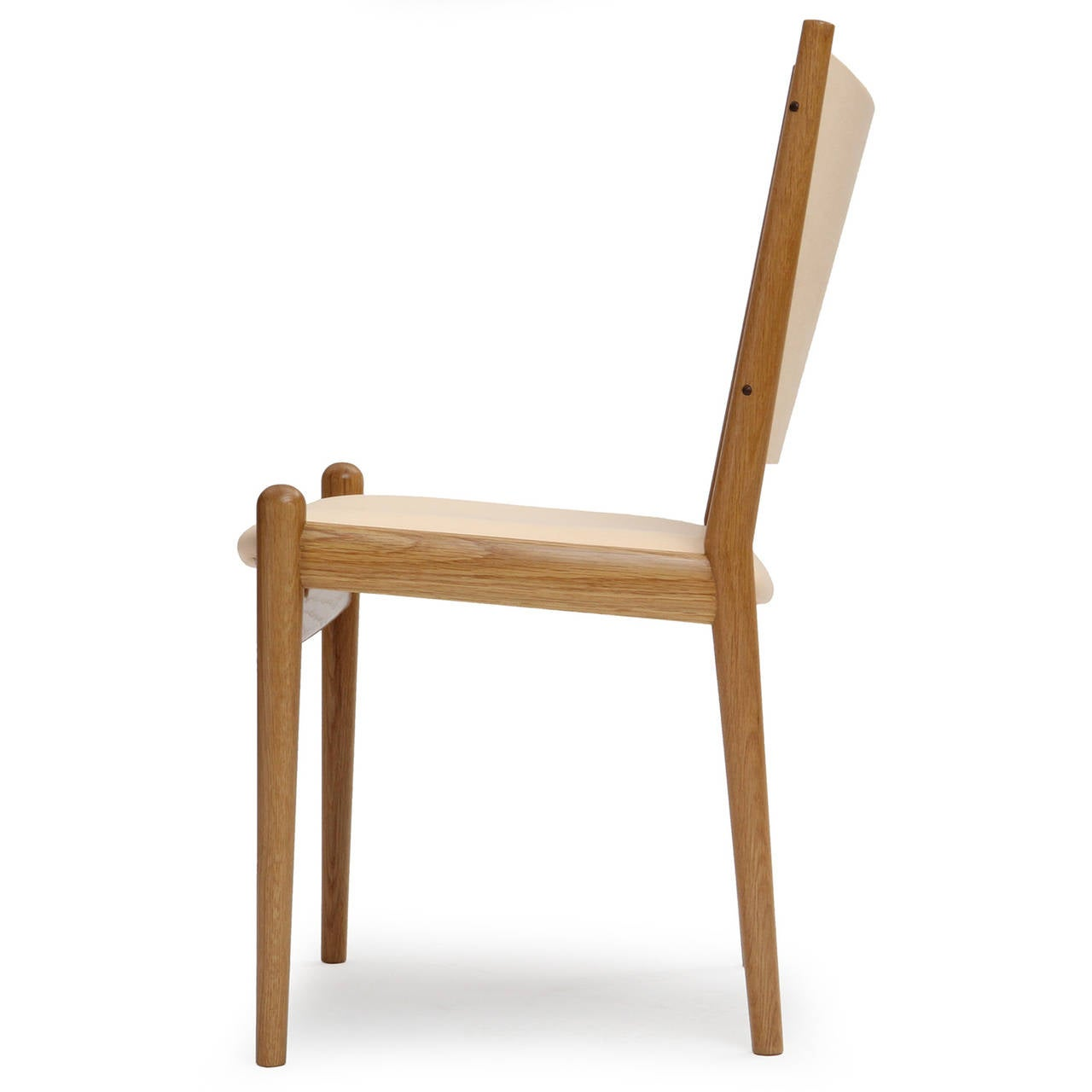 White oak and leather dining chairs by hans wegner for for White leather dining chairs