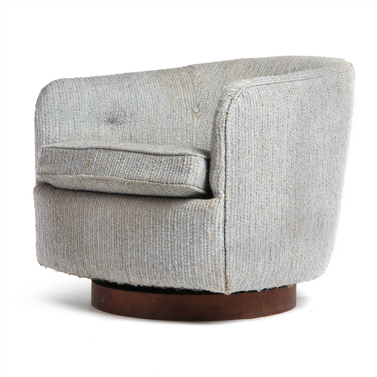 Mid-Century Modern Swiveling Armchairs by Milo Baughman For Sale