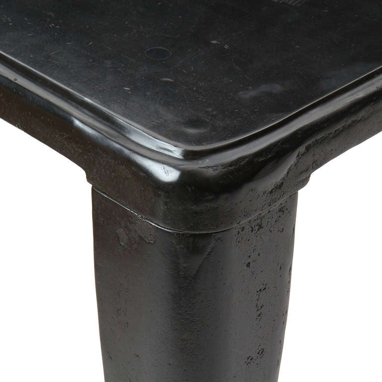 Patinated Cast Iron Industrial Table 5