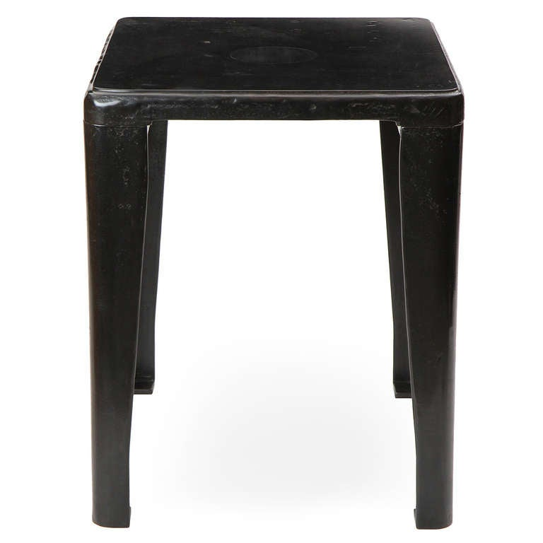 Patinated Cast Iron Industrial Table 7