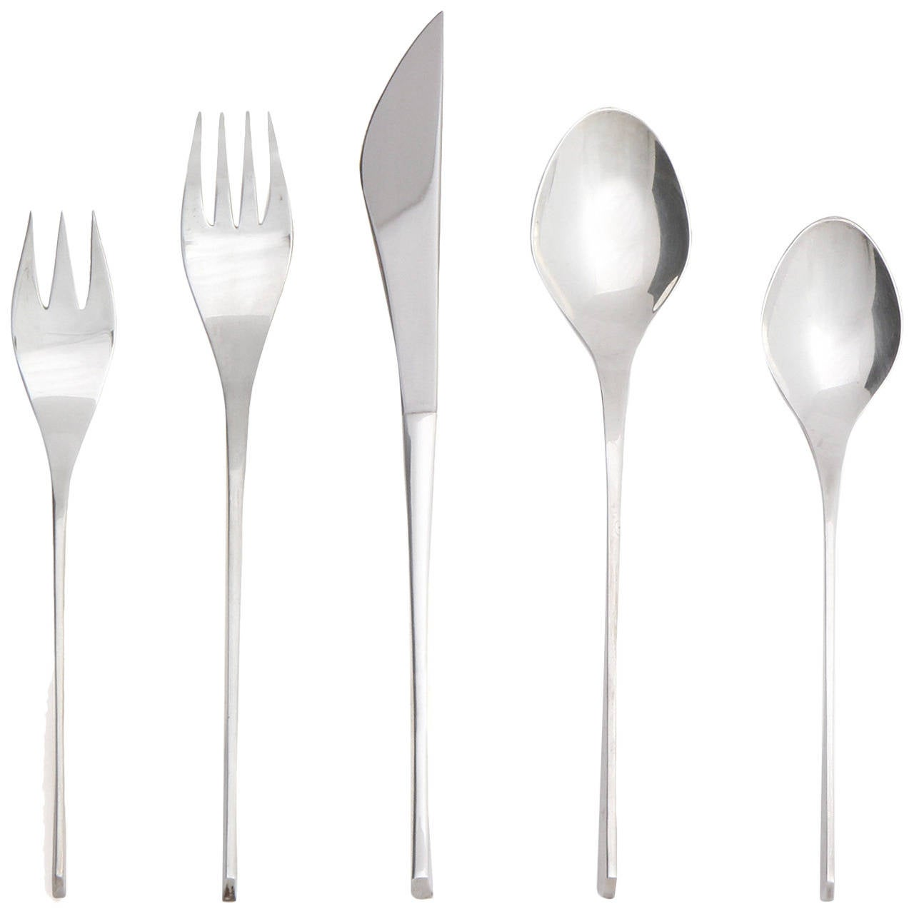 'Vision' Sterling Flatware by Ronald Hayes Pearson For Sale