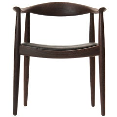 The Round Chair in Wenge by Hans J. Wegner