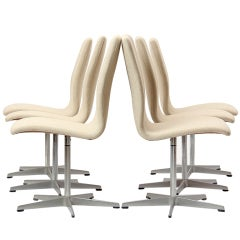 six Oxford chairs by Arne Jacobsen