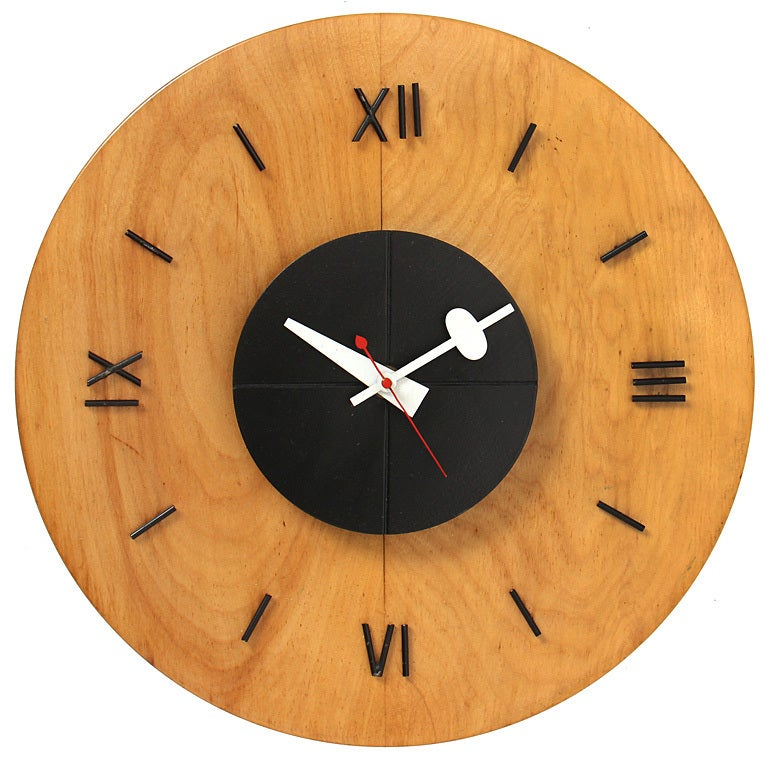 Modernist wall clock by george nelson for sale at 1stdibs for Nelson wall clock