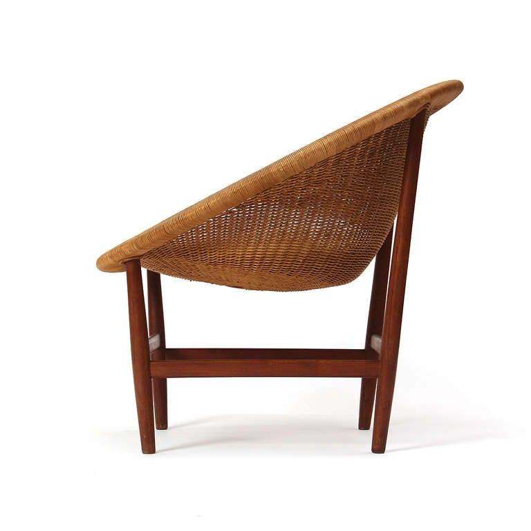 Teak and Wicker Chair by Nanna Ditzel 4
