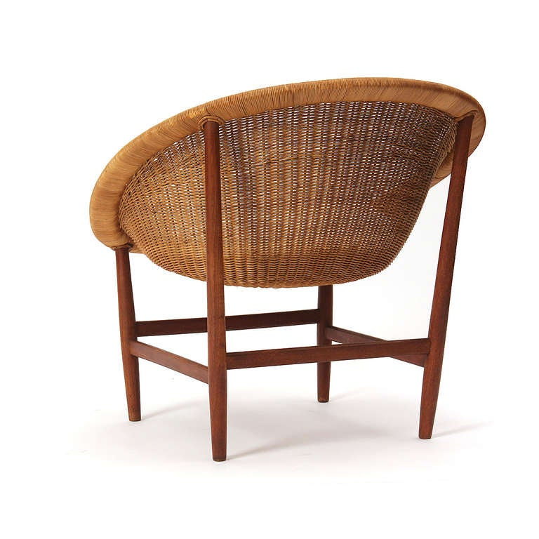 Teak and Wicker Chair by Nanna Ditzel 5
