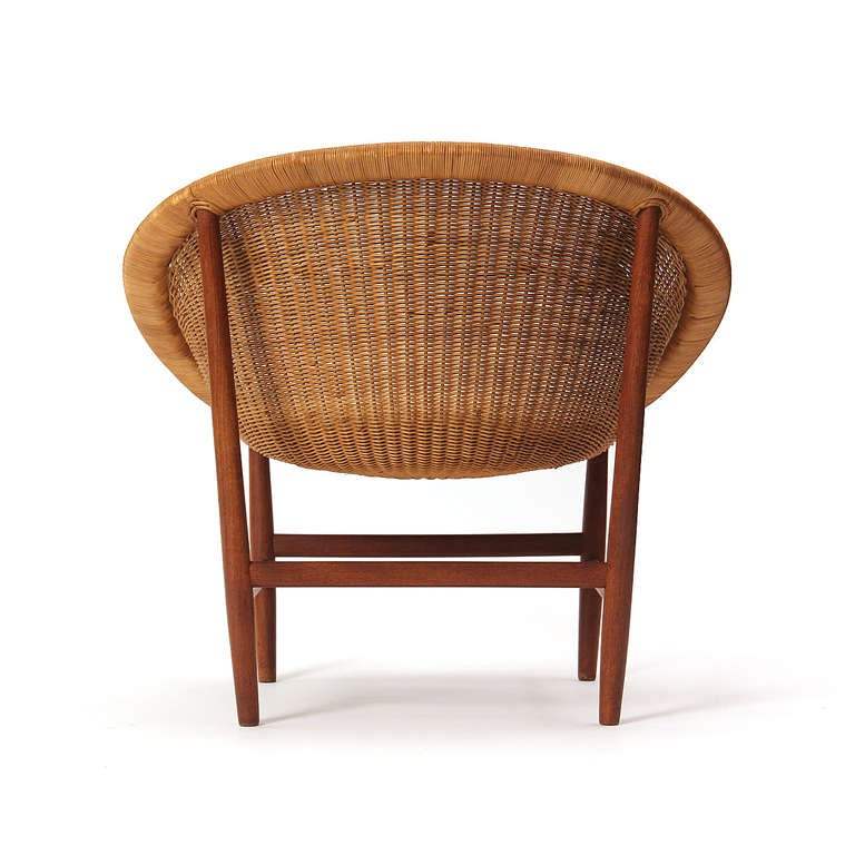 Teak and Wicker Chair by Nanna Ditzel 6