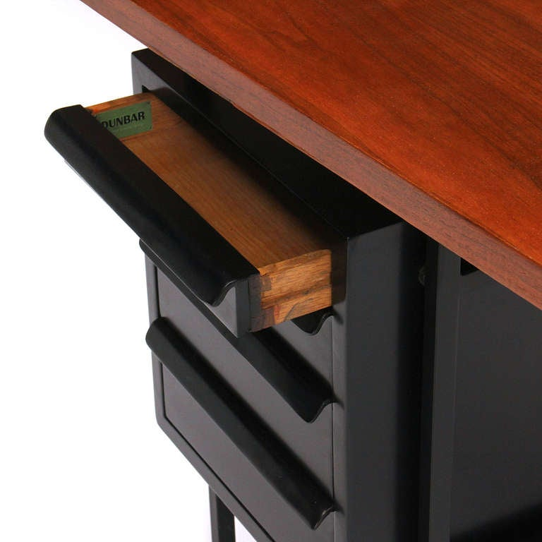 Drop-Leaf Desk by Edward Wormley for Dunbar In Good Condition For Sale In Sagaponack, NY