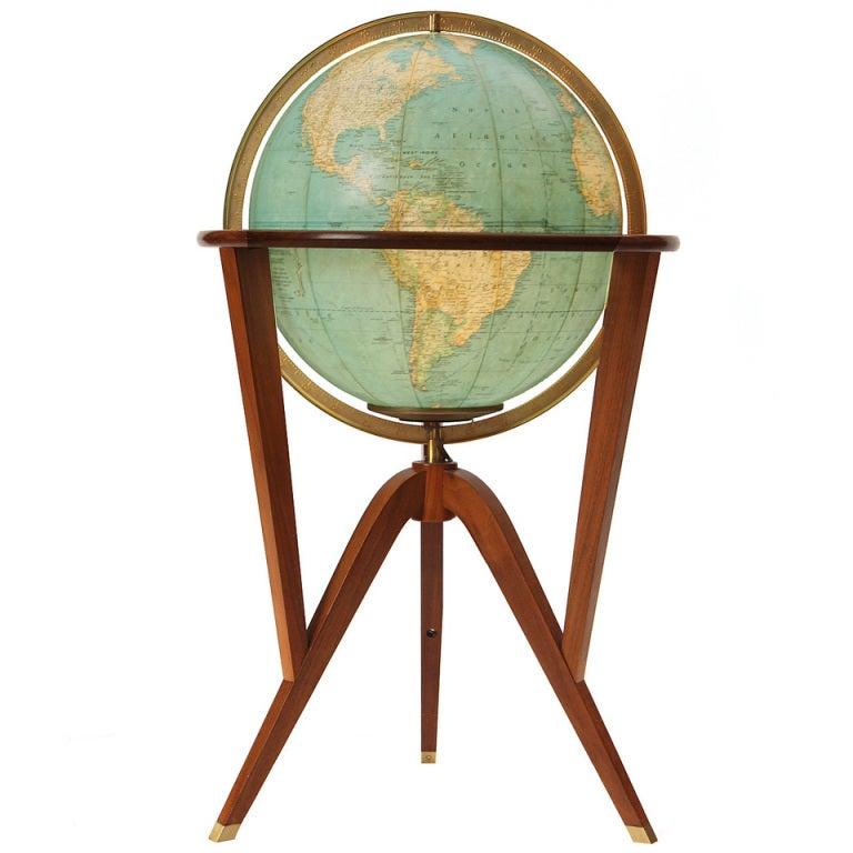 Illuminated Globe By Edward Wormley At 1stdibs