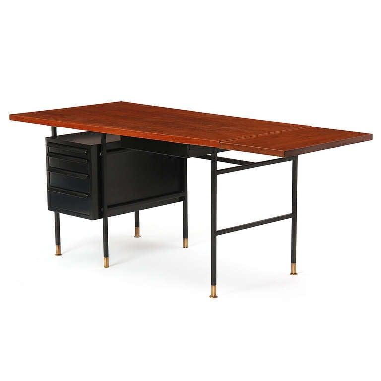 Mid-Century Modern Drop-Leaf Desk by Edward Wormley for Dunbar For Sale