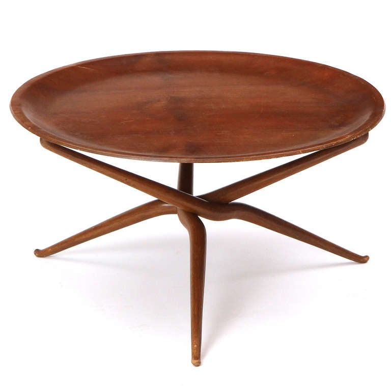 Mid-Century Modern Sculptural Tray Table For Sale