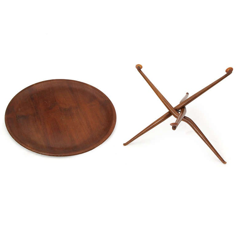 Mid-20th Century Sculptural Tray Table For Sale