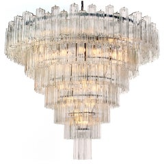Monumental Venini Eight-Tiered Chandelier