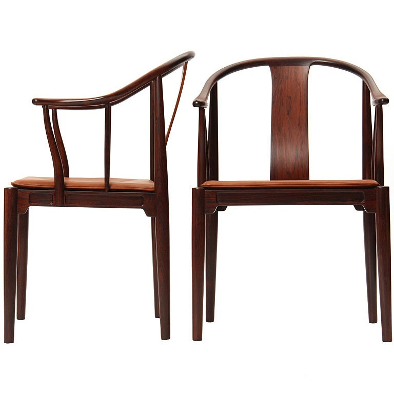Rosewood Chinese Chairs By Hans J Wegner At 1stdibs