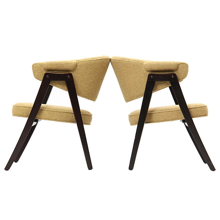 'A' Frame Armchairs by Edward Wormley For Sale