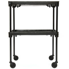 Industrial Cart with Adjustable Shelf