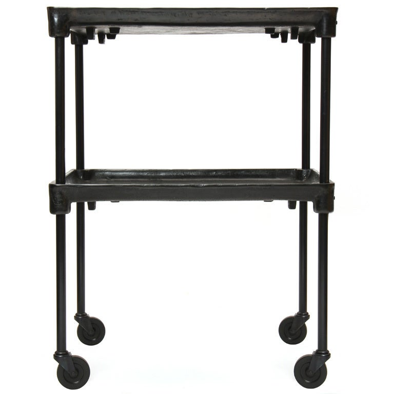 Industrial Cart with Adjustable Shelf For Sale