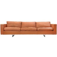 leather sofa by Jens Risom