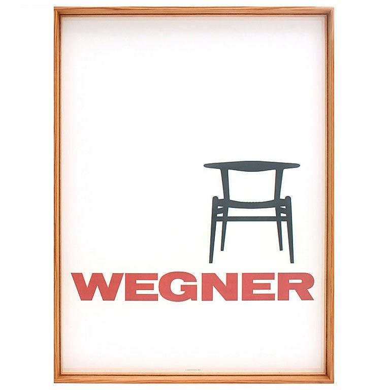Vintage Wegner Poster in Wyeth Frame For Sale