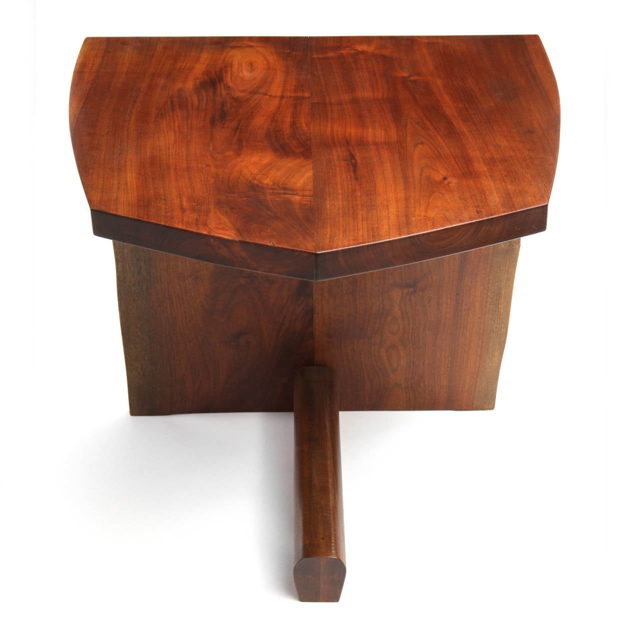 Unique end table by george nakashima at stdibs