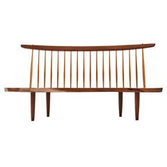 Superb Conoid Bench by George Nakashima