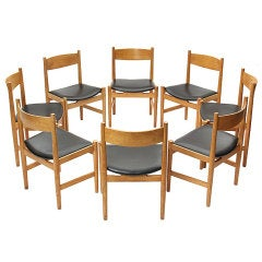 Set of Eight Oak Dining Chairs by Hans J. Wegner