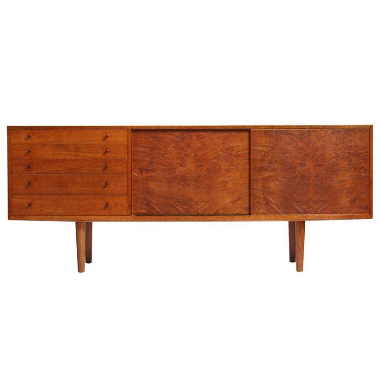 Oak Cabinet by Hans J. Wegner For Sale