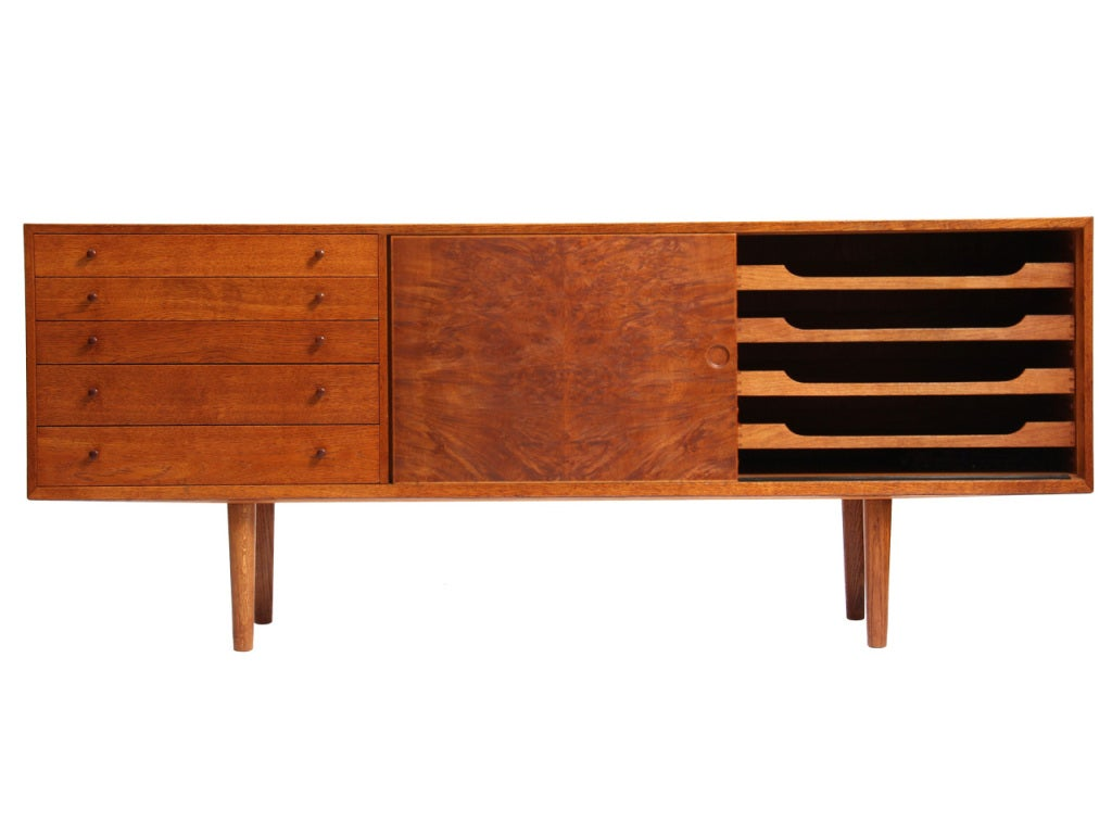 Scandinavian Modern Oak Cabinet by Hans J. Wegner For Sale
