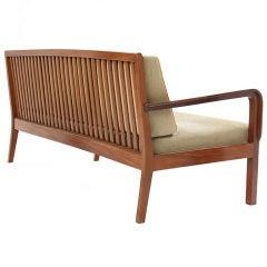 Slat-Back Sofa by Kindt-Larsen