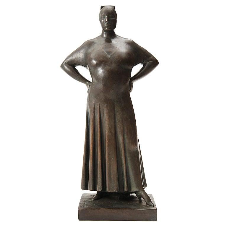 'Madame LaChaise' Sculpture For Sale