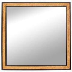 Square Raffia Mirror by Edward Womley