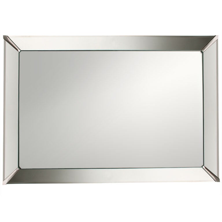 Beveled edge wall mirror at 1stdibs for Beveled mirror