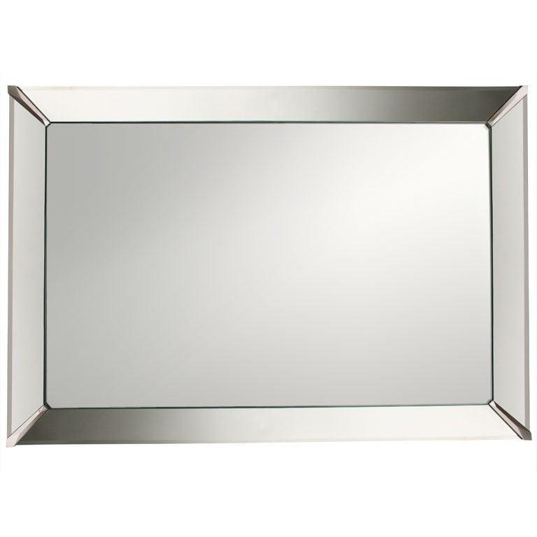 Beveled edge wall mirror at 1stdibs for Beveled wall mirror