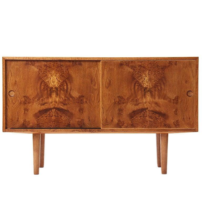Oak Burl Cabinet by Hans J. Wegner