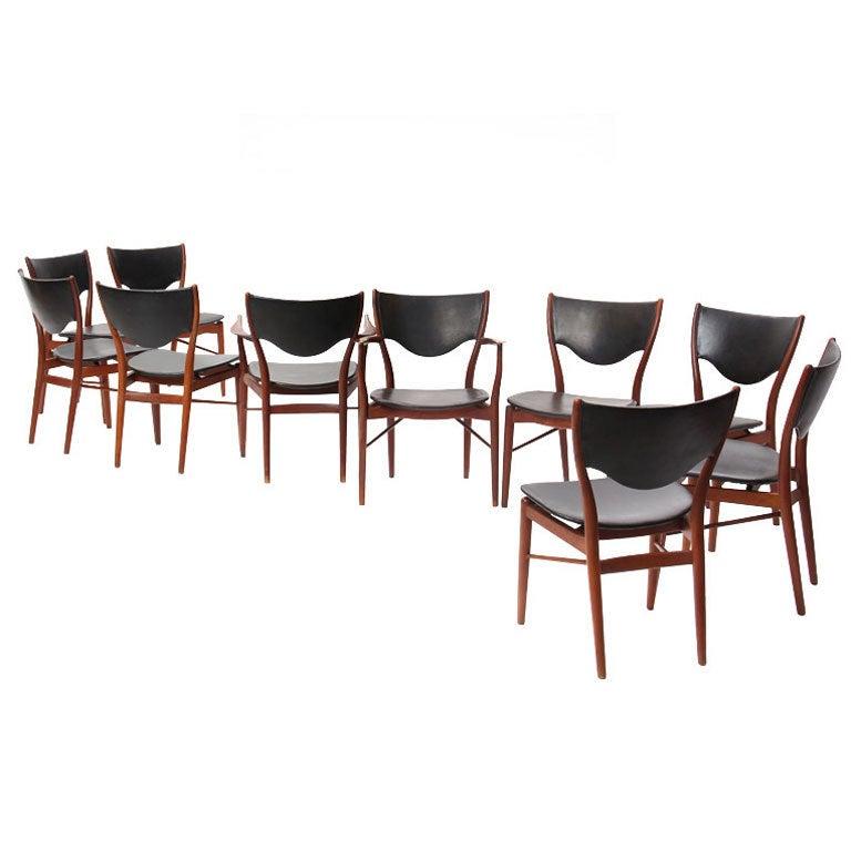 Set of Ten Sculptural Dining Chairs By Finn Juhl 1Set of Ten Sculptural Dining Chairs By Finn Juhl For Sale at 1stdibs. Finn Juhl Chair 108. Home Design Ideas