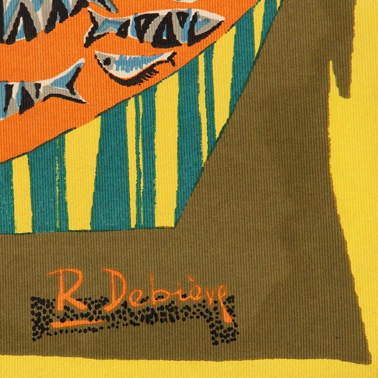 """Le Remailleur De Filet"" Tapestry by Robert Debieve 5"