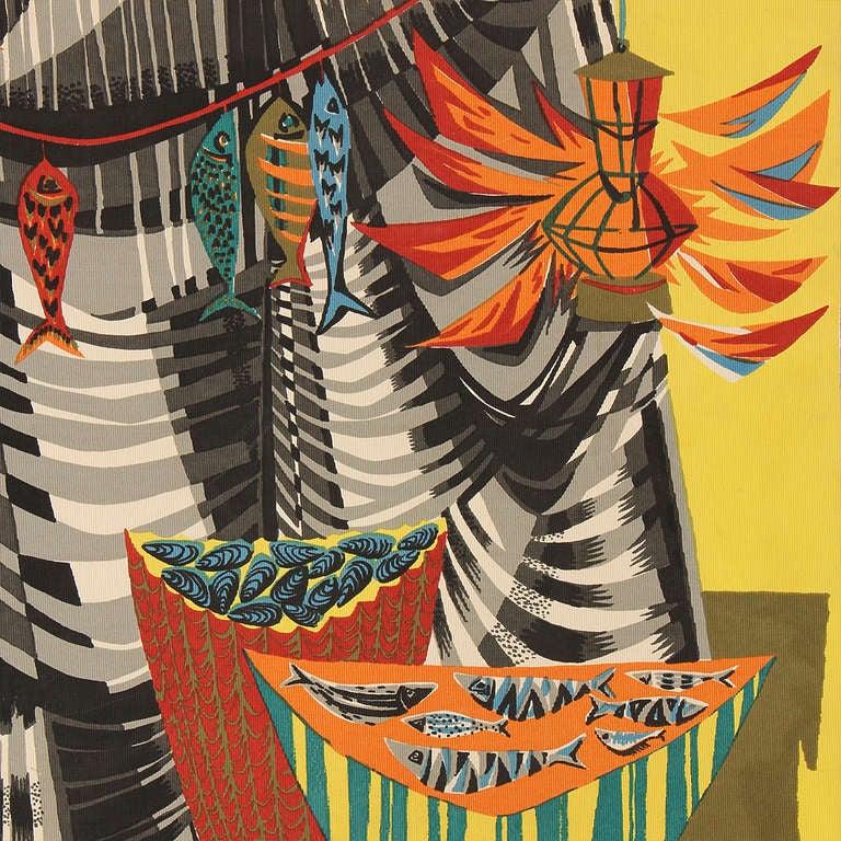 """Le Remailleur De Filet"" Tapestry by Robert Debieve 4"