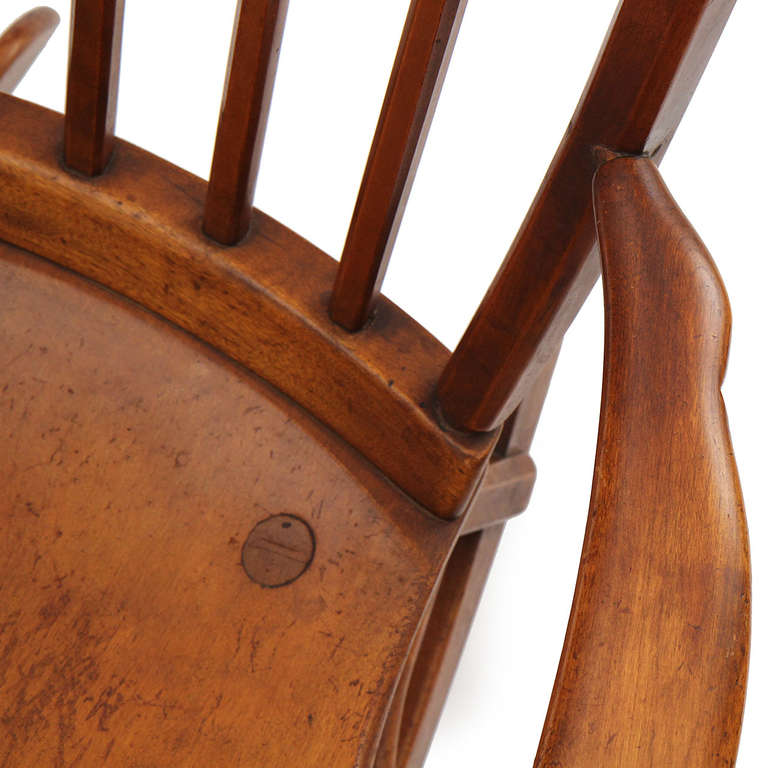 Maple Rocking Chair By Sikes At 1stdibs