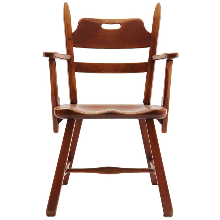 Carved Maple Armchair By Cushman For Sale At 1stdibs