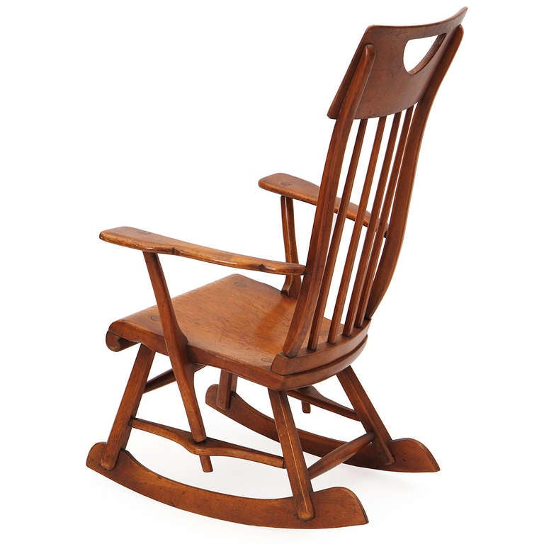 Maple Rocking Chair By Sikes For Sale At 1stdibs