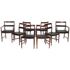 Rosewood Dining Chairs by Helge Vestergaard-Jensen