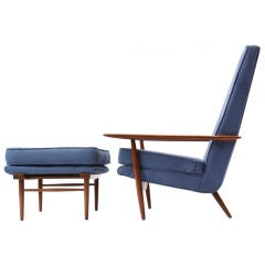 Highback Chair and Ottoman by George Nakashima
