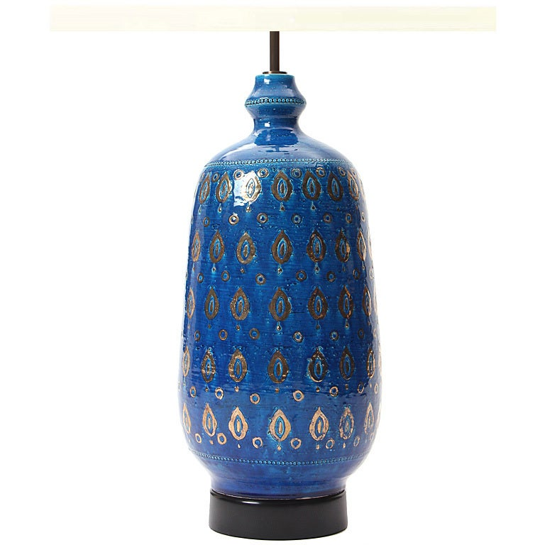 Blue And Gold Table Lamp At 1stdibs