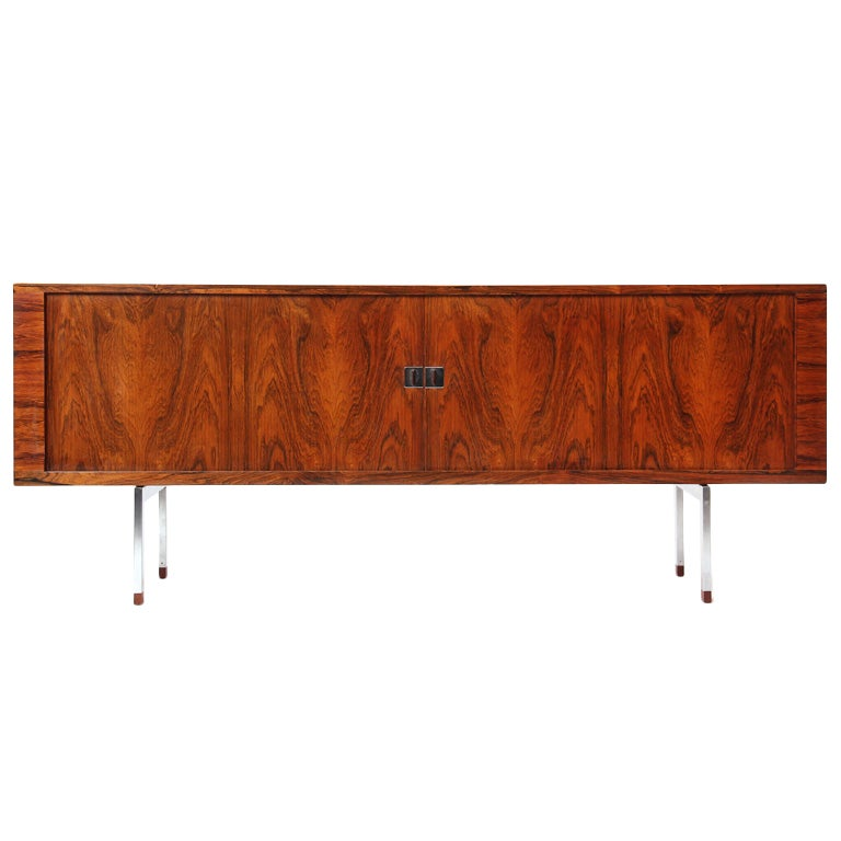 Rosewood Credenza by Hans J. Wegner For Sale