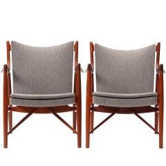 "Pair of ""45"" Chairs By Finn Juhl"