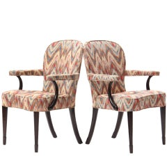 Pair of Rare Armchairs by Edward Wormley