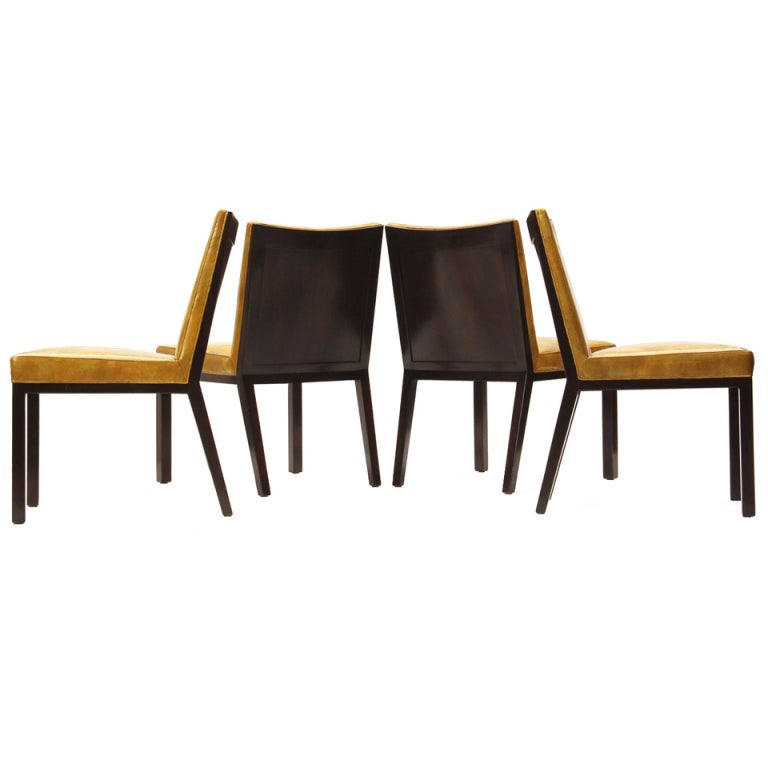 Set of Four Panel-Back Dining Chairs by Edward Wormley for Dunbar